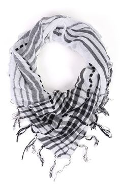 Deb Shops Plaid Woven Scarf with Fringe $9.00