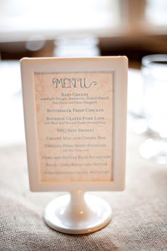 Wedding Menu Card designed by @Paperwhites in Ikea Tolsby Frame, photo by @NancyRay