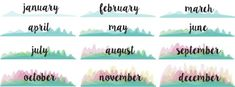DIY Gifts: Printable Calendar