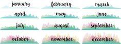 DIY Gifts: Printable Calendar