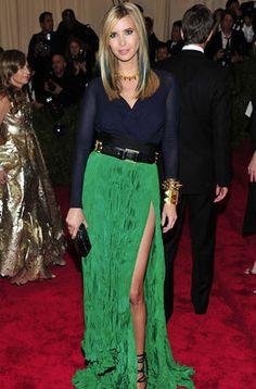 Ivanka Trump en la alfombra roja de la gala MET 2013 en Nueva York