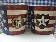 Handpainted Tubs:  These custom galvanized tubs are always a favorite with Army spouses.  Hope Bird's are the best!