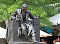 Statue of Edgar Allen Poe at Baltimore University.  http://www.rosettabooks.com/