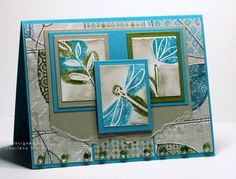 Stamps: All I Have Seen  Paper: Tempting Turquoise, Sahara Sand, Old Olive, Whisper White, Little Yellow Bicycle Leaf a Note dp  Ink: Sahara Sand  Accessories: Tempting Turquoise and Old Olive markers, rectangle Nestabilities, glass beads, dimensionals