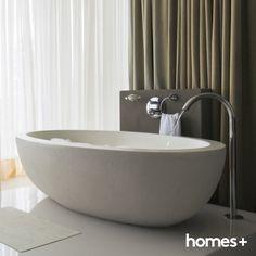 #statement #bath #tub #bathroom #white #tiles #tap #interior #decor #style #contemporary #modern #homes #house #homesplusmag Contemporary Style Homes, Modern Homes, Bath Tub, White Tiles, House And Home Magazine, Interior Inspiration, Sink, Bathroom, Home Decor