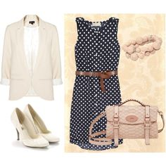 My Polka Dot Dress, created by patricia-teixeira on Polyvore