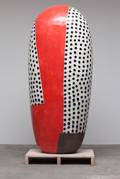 Jun Kaneko, Artist, Untitled Dango, glazed ceramics, 72 h x 31 w x 23 d Glass Ceramic, Ceramic Clay, Ceramic Painting, Ceramic Artists, Ceramic Pottery, Pottery Art, Japanese Ceramics, Modern Ceramics, Contemporary Ceramics