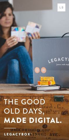 "Click to sign up and find out why Huffington Post said ""This is truly spectacular. Legacybox is an amazing service...This is something that will be cherished and passed down. Give the Legacybox with a Kleenex box for best results."""