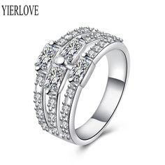 YIERLOVE 2015 Attractive Design Different Styles Silver Plated  Rings R693-8