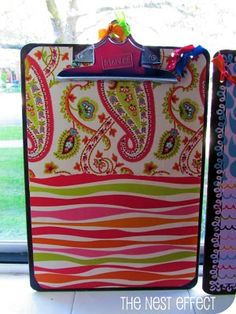 Need to do this for my classroom. The Nest Effect: DIY Decorated Clipboard