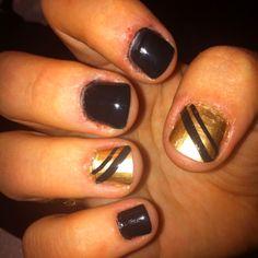 "China Glaze ""2030"" nail art."