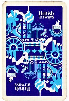 British Airways standard playing card 1970