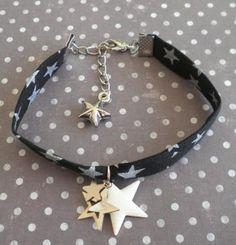 Bracelet les étoiles en noir et blanc Mimischkä