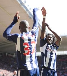 Lukaku and Fortune celebrate going 2-0 up against Southampton.
