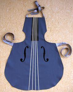 """Kochschürze """"KID"""" in Form eines Musikinstrumentes"""