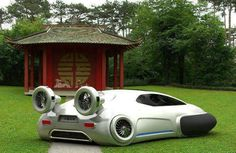 Volkswagen Aqua would be powered by a hydrogen fuel cell and would emit zero carbon dioxide.The all-terrain vehicle, which has a top speed of 62mph and works like a hovercraft, can move seamlessly between different surfaces..