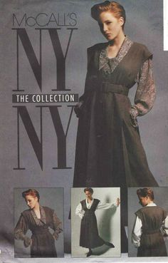 90s McCalls Sewing Pattern 5041 Womens Empire Waist Jumper, Belt and Blouse Size 14 Bust 36 UnCut NY NY the Collection by CloesCloset on Etsy