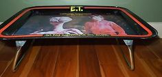 1982 E.T. TV Lap Tray The Extra Terrestrial Movie Metal Folding Vintage RARE