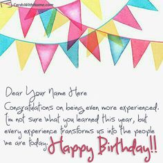 Online Birthday Card Maker With Name Photo On Best Generator And Send Printable Happy Wishes Cards Editing Options