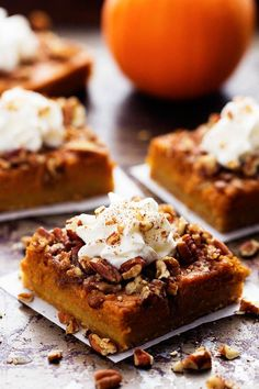 All of the goodness of pumpkin and pecan pie combine in these delicious dessert bars. They are baked on top of a buttery shortbread crust and make one fantastic dessert! Fall is my favorite time of the year. We have been having gorgeous weather here in Utah and we have been loving every minute. We …