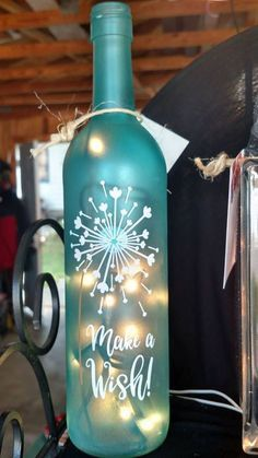 Wish Upon A Star Wine Bottle