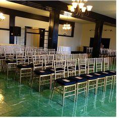 A simple yet beautiful ceremony layout. #woodrowhall #birmingham #wedding #ceremony #alabama