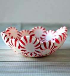 Bonus points if you fill your melted-peppermint bowl with more peppermints.  Get the recipe at Princess Pinky Girl.    - CountryLiving.com