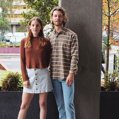 Arizona and Joey in NEW Fall staples. #AmericanApparel #AAemployees #Melbourne