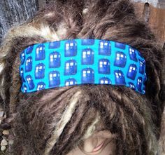 Doctor Who Headband Tardis Head band hair bow by Phatcatpatch
