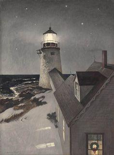 Snowy Morning -  Andrew Wyeth  c. 1947  American 1917-2009  tempera on panel  21¾ x 16 in. (53.3 x40.6 cm.)