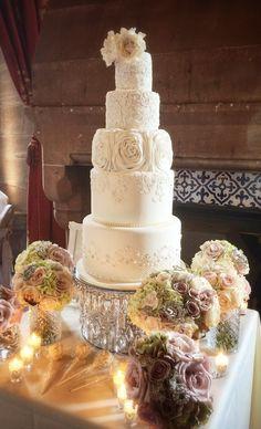 @Cookie Couture cake @peckforton  #wedding cake