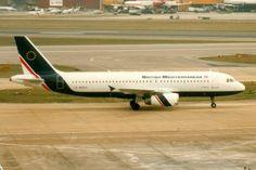 British Mediterranean, Airbus A320-200, G-MEDA, London Heathrow