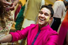 Indian groom is smeared in yellow turmeric paste at his first wedding ceremony ritual http://www.maharaniweddings.com/gallery/photo/131930