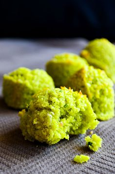 Flourless pistachio cookies with coconut. These sound delicious for anyway, but they'd be beautiful on Christmas!