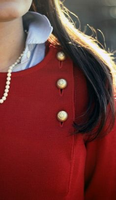 perfect for my red zara sweater w gold buttons