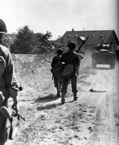 Third Army troops move into Angers, France on the 10th of August, 1944 after a successful attack that netted 2,000 prisoners.