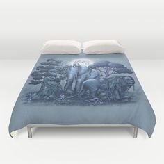 Duvet cover with beautiful art. Stone Garden by Terry Fan $99.00