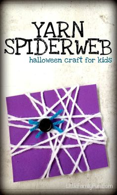 Spiderweb Halloween Craft for kids! So easy and cute.