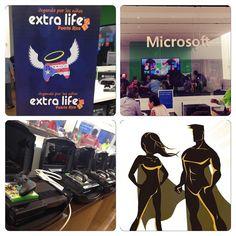 Llega a Microsoft Store en Plaza Las Américas!! Jugando con @extralifepr para recaudar dinero para la Fundación de Niños San Jorge #PuertoRico #gamers #gaming #extralife #xboxone #xbox