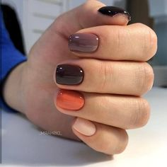 Top Pretty Nails Colors You Should Try in Fall Gel Nails, Fall Acrylic Nails, Autumn Nails, Minimalist Nails, Shellac Nails, Toe Nails, Coffin Nails, Nail Polish, Pretty Nail Colors