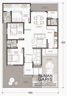 denah rumah tipe 90 di lahan meter yes House Layout Plans, New House Plans, Dream House Plans, Small House Plans, House Layouts, House Floor Plans, Modern Floor Plans, Home Design Floor Plans, Home Building Design