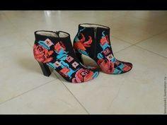 Вышивка крестиком. Обувь. Безумно красивая. | razpetelka.ru