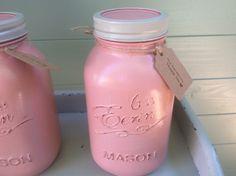 Large Mason jars handpainted home decor, wedding, engagement, gift for Mum