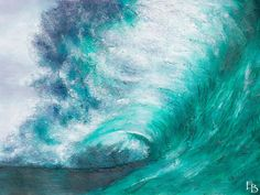 Surfer's soul! Large wall art ocean painting beach painting wall art by FraBor