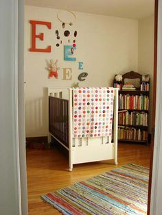 Different idea to do initials in a nursery without the cliche'