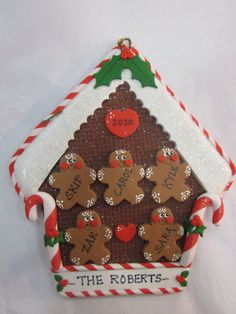 10 Christmas mittens  Personalized family Christmas ornament