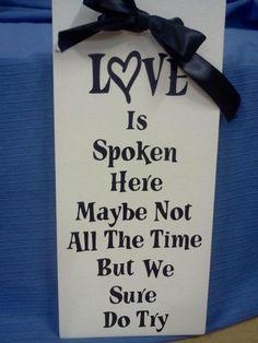 Love is spoken here Vinyl Project