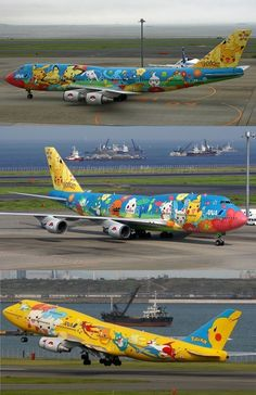 747 con caricaturas