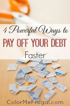 So many of us are working hard to pay off debt from credit cards, student loans, mortgages, etc. If this is you, you'll definitely want to check out these 4 powerful ways to pay off your debt faster! Debt Payoff, Credit Card Debt #Debt