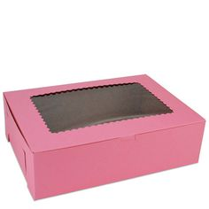 "Pink 14"" Window Bakery Box - Layer Cake Shop"